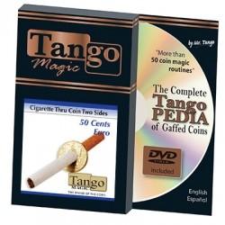 Zigarette durch 50-Eurocents-Münze (2-seitig)