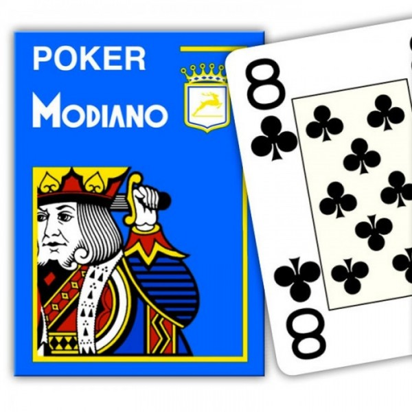 Poker Spielkarten Modiano Cristallo (4 Jumbo Index)