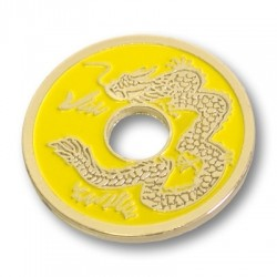 China Münze - Gelb