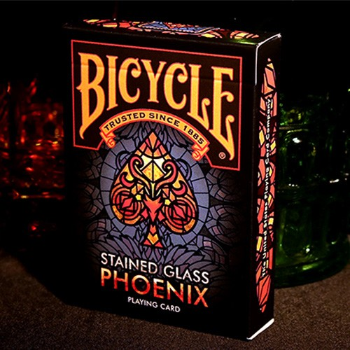 Bicycle Stained Glass Phoenix Deck