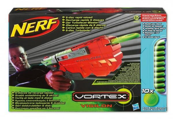 NERF Vortex Vigilon (mit 5 extra Discs)