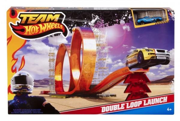 Team Hot Wheels Double Loop Launch
